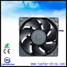 Square 120mm x 38mm Industrial Ventilation Fans , Sleeve Bearing AC Cooling Fan
